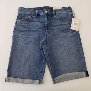 NEW NYDJ Briella Cuffed Bermuda Shorts